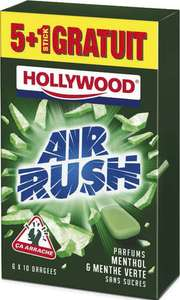 6 paquets de Chewing Gum Hollywood Air Rush
