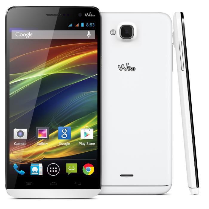 "Smartphone 5.5""  Wiko Slide (Quad Core, Android 4.4 KitKat, 1 Go Ram)"
