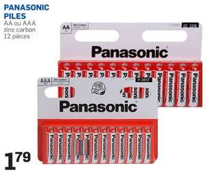 Pack de 12 piles Panasonic zinc carbon AA ou AAA