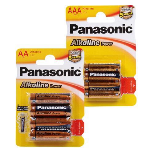 Pack de 4 piles alcalines Panasonic AA ou AAA