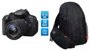 Le pack Reflex Canon EOS 700D + EF-S 18-55mm IS STM + Sac Canon