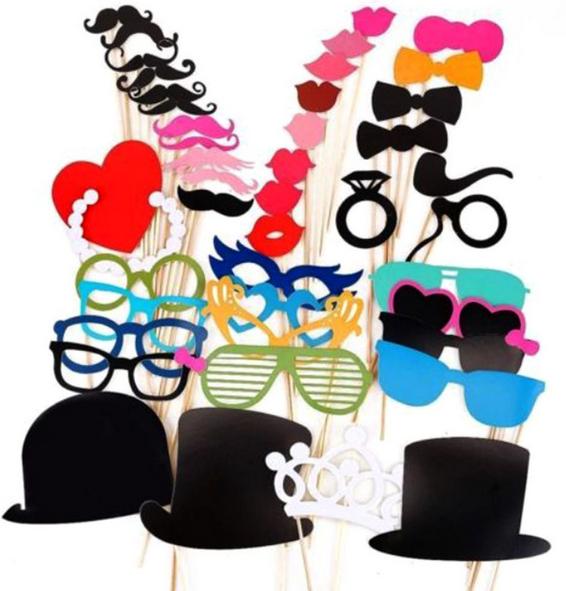 Lot de 44 accessoires pour Carnaval, Mardi Gras