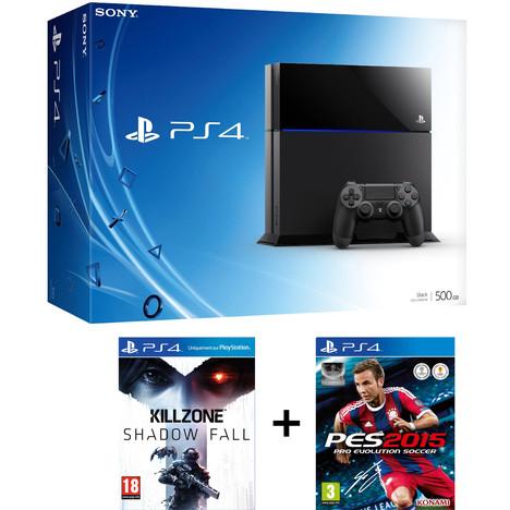 Console PS4 nue + PES 2015 + Infamous ou Killzone