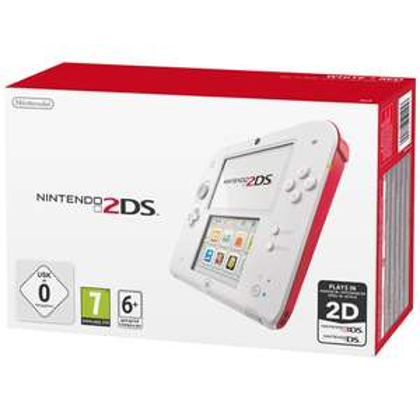 Console Nintendo 2DS Blanc/Rouge