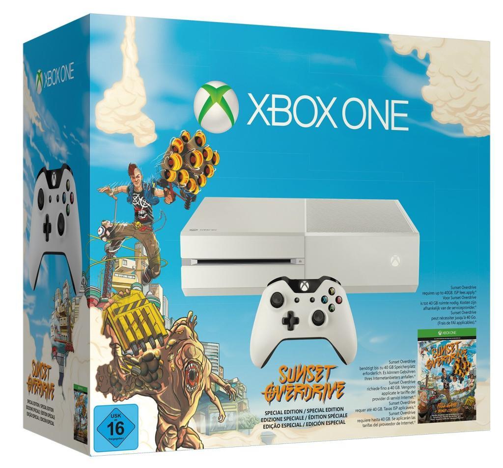 Console Xbox One blanche + Sunset Overdrive (Dématérialisé)