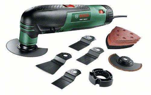 """Outil multifonction Bosch """"Universal"""" PMF 190 E avec coffret (7 accessoires et 1 set de feuilles abrasives)"""