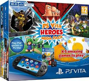 Console Playstation Vita Wifi + Heroes Pack (5 Jeux dématérialisés) + Carte Mémoire 8 Go