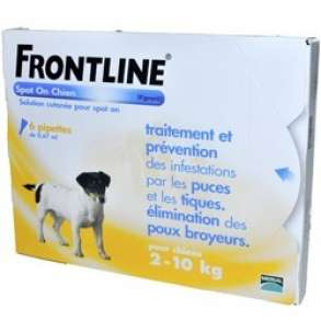 Frontline Spot-on Chien S (2-10kg) - 6 pipettes