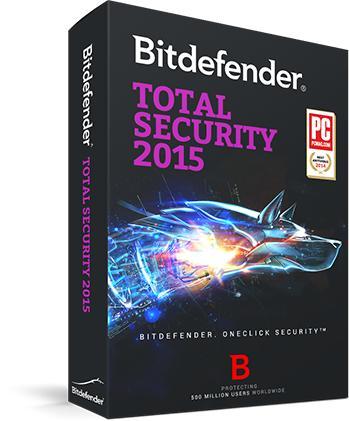 Bitdefender Total Security 2015 - Licence 9 mois gratuite sur PC