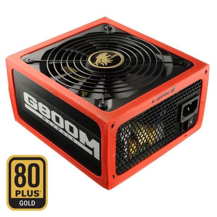 Alimentation PC modulaire Lepa MaxGold 800W