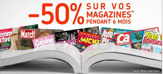-50% sur votre abonnement pendant 6 mois + 1 mois gratuit