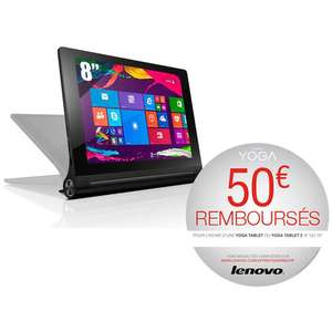 "Tablette 8"" Lenovo Yoga Tablet 2 - 32 Go - 2 Go RAM - Windows 8.1 (avec ODR 50€)"