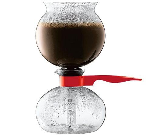Cafetière à dépression Bodum Pebo rouge - 8 tasses