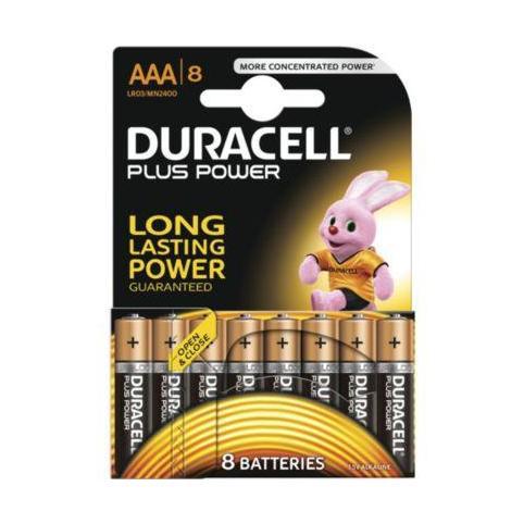 Duracell Plus Power 2 lots de 8 piles (LR6 ou LR03) (ODR 50%)