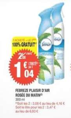 2x Febreze Plaisir D'air 300ml