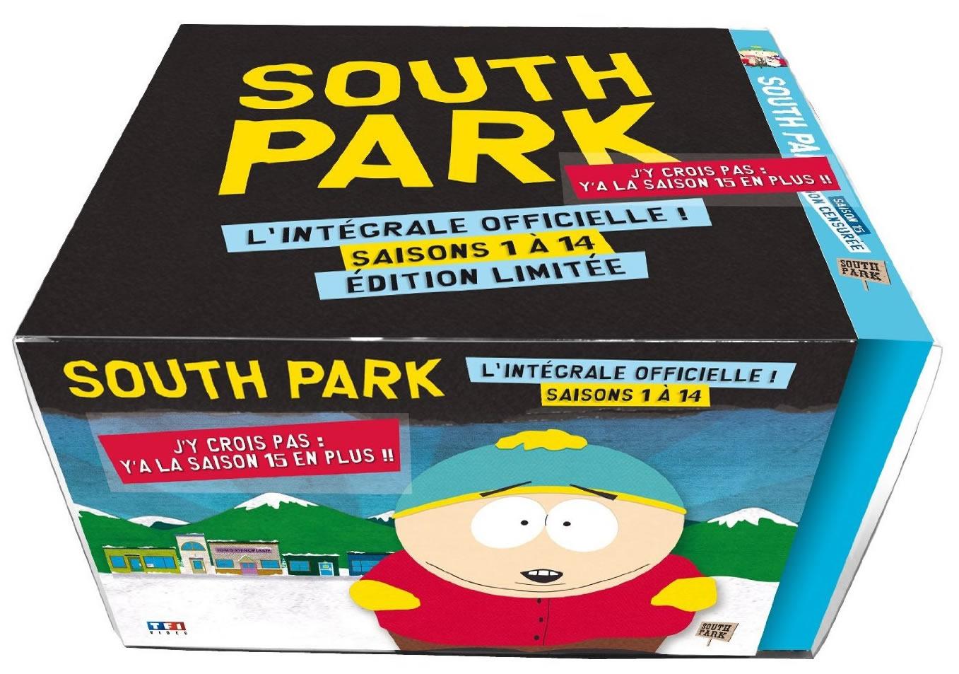 Coffret DVD édition limitée  South Park saisons 1 à 15