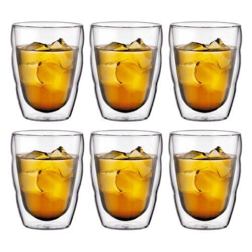 Coffret 6 verres 6 verres Bodum double paroi Pilatus 25 cl