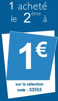 1 article acheté = le 2éme à 1€