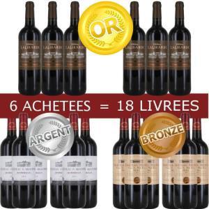 Pack de 18 Bordeaux Médaillés