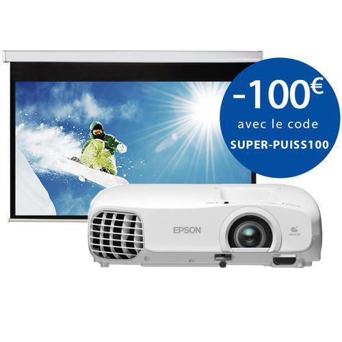 Pack Vidéoprojecteur Epson EH-TW5100 - Full HD + Ecran Manuel 92''