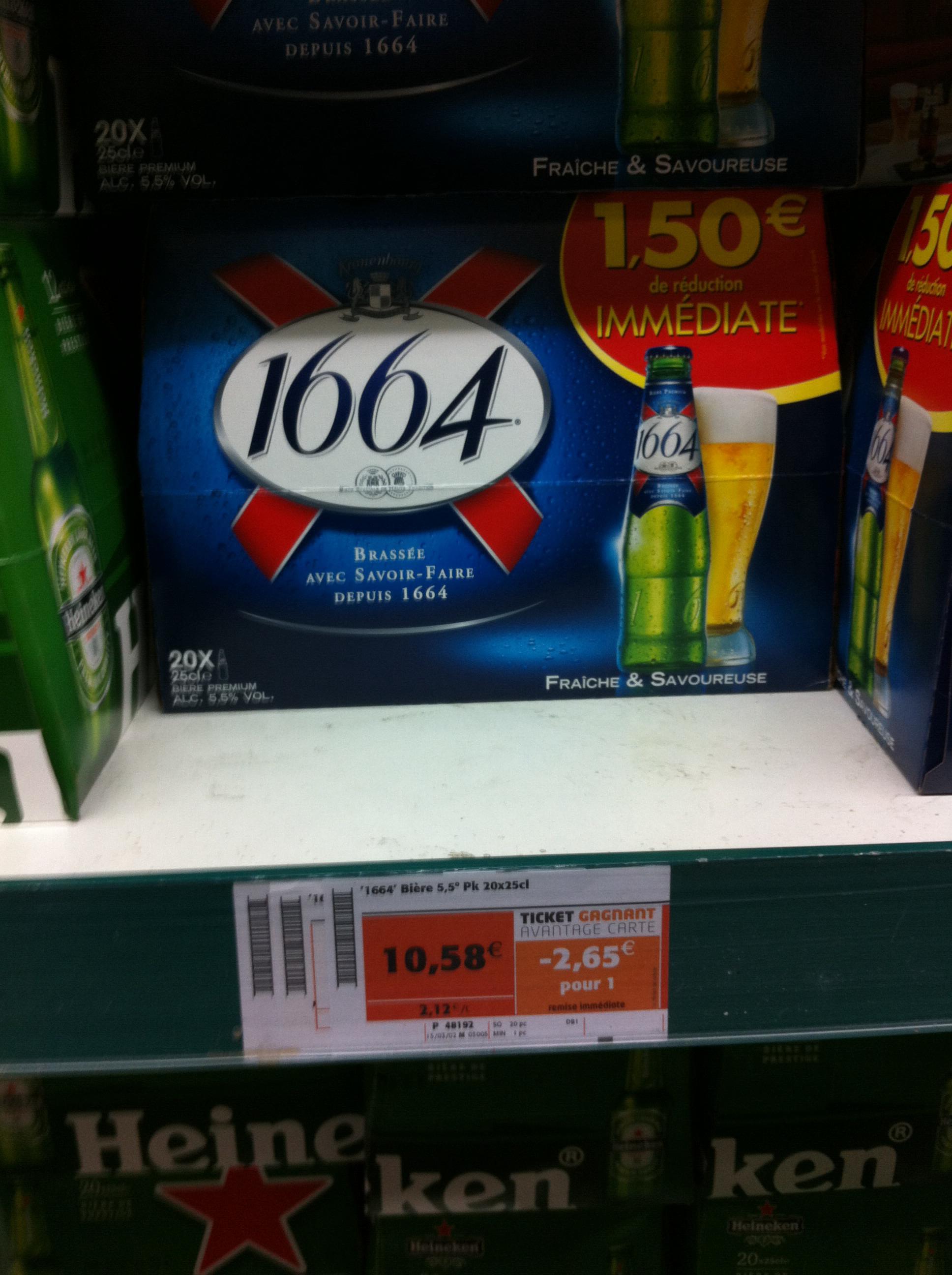 Pack 20 x 33 cL Bière 1664