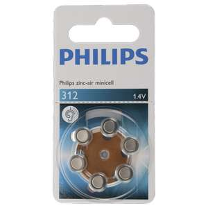 lot de 6 piles auditives Philips