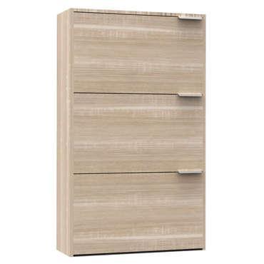 Meuble bas 3 portes - Coloris chêne naturel