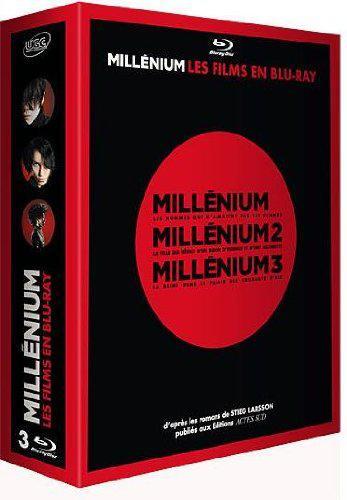 Coffret Bluray  Millénium, la trilogie à 13,99