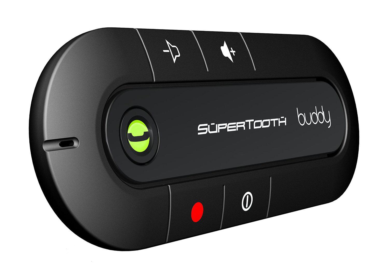 Kit mains libres SuperTooth Buddy Bluetooth pour pare-soleil - Noir