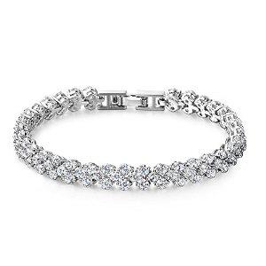 Bracelet 7 Ounces en Cristal Swarovski et Alliage (plaqué or blanc)