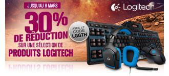 30% de réduction sur une sélection de produits Logitech - Ex : Volant Gaming PC Logitech G27S à 174.93€