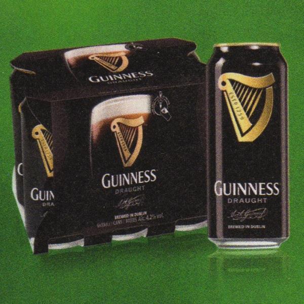 2 Packs de Bière Guiness Draught 6x33cl (canettes)