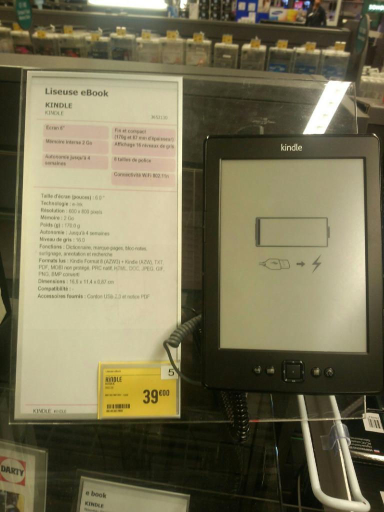 "Liseuse 6"" Kindle Wi-Fi, 2 Go"
