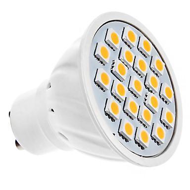 Ampoule Spot LED à Lumière Blanche Chaude - GU10 - 5W 20x5050SMD 320LM (220V)