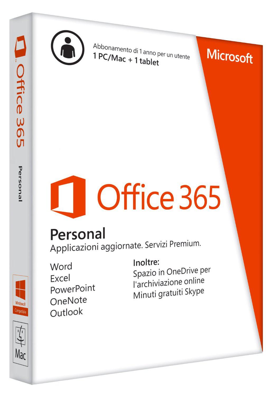 Microsoft Office 365 Personnel - Abonnement 1 an (1 PC / Mac + 1 Tablette)