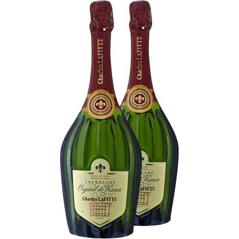 Sélection d'offres sur les alcools - Ex : 2 bouteilles de champagne Charles Lafitte brut - 75cl, 12°