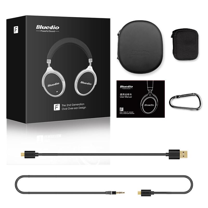 Casque sans fil Bluedio F2 - Bluetooth 4.2, antibruit actif
