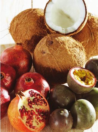 Lot de 3 Noix de Coco, Grenade, Sharon, Fruits de la Passion (Panachage Possible) -