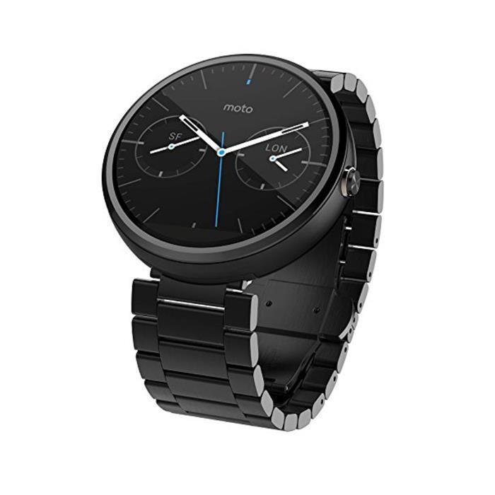 Montre connectée Motorola Moto 360 - bracelet métal noir (avec ODR 50€)