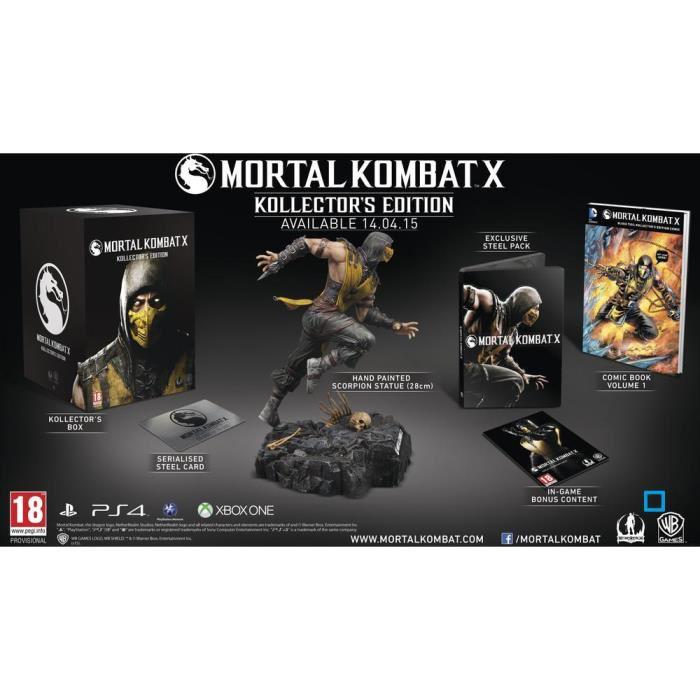 Précommande : Mortal Kombat X Collector sur PS4 et XBOX One