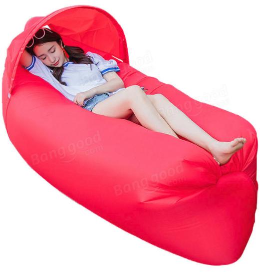 Sofa gonflable IPRee avec Pare-soleil - Plusieurs coloris (240 x 70 cm)
