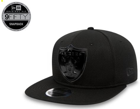 Sélection de casquettes en Promotion - Ex: Oakland Raiders 9Fifty Noir (Tailles S-M ou M-L)