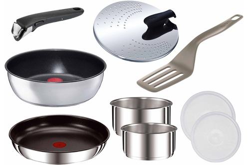 Batterie de cuisine 9 pièces  Tefal Ingenio 5 inox Induction