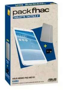 "Pack tablette 8"" Asus Memopad (me181) + cover + SD 16 Go"