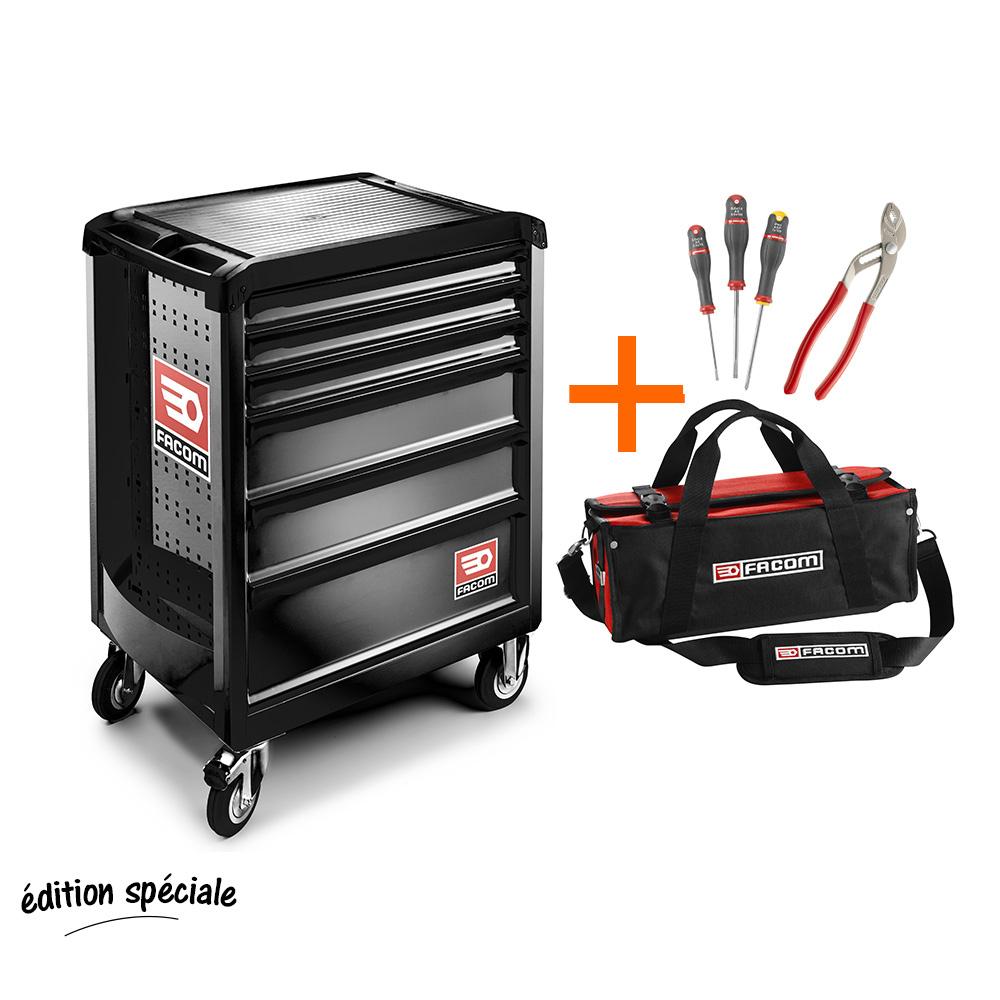 servante d 39 atelier facom 6 tiroirs sacoche probag avec 4 outils. Black Bedroom Furniture Sets. Home Design Ideas