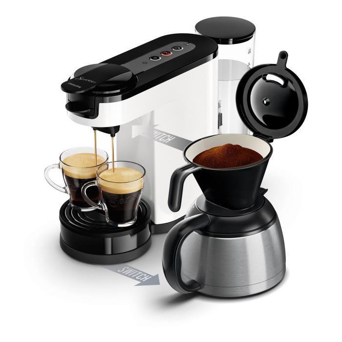 Machine à café Philips Senseo Switch HD7892/01 - Blanche
