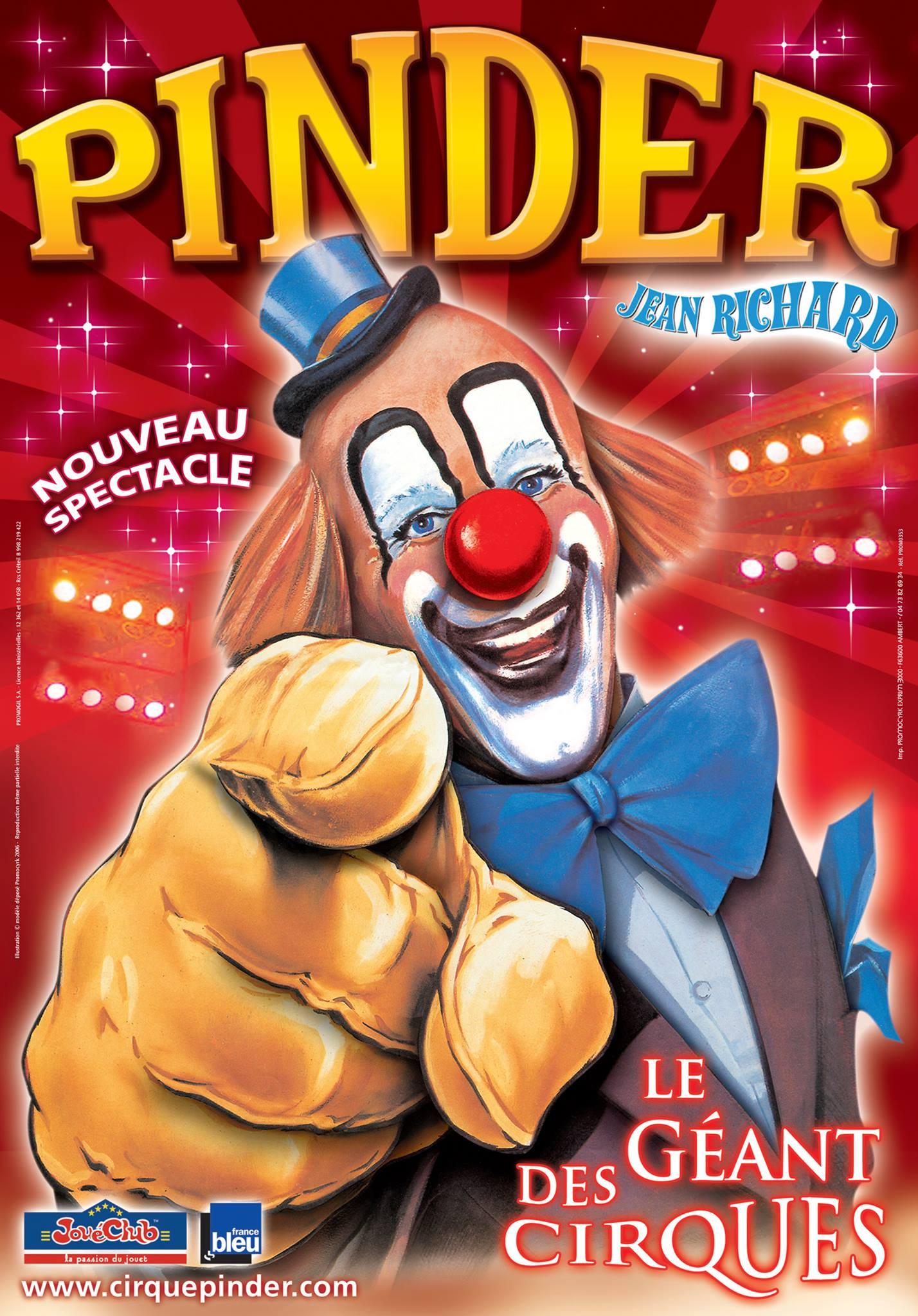 Cirque Pinder : 2 places d'orchestre pour le 3 novembre à 20h