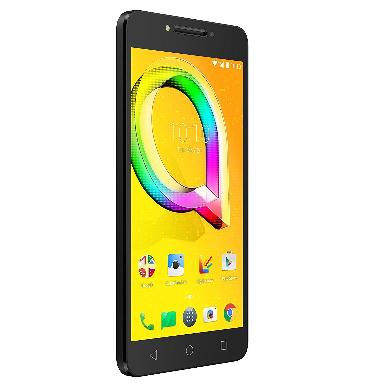 """Smartphone 5.2"""" Alcatel A5 LED - 16 Go, 2Go Ram, Metallic Noir (via ODR de 100€)"""