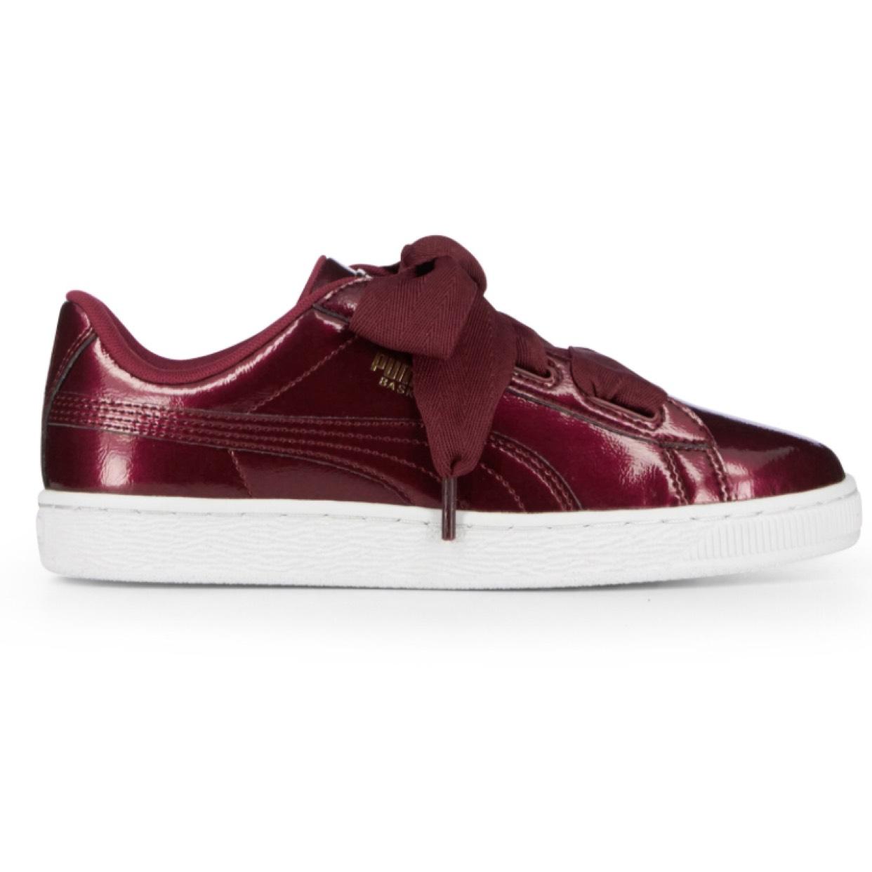 Promotion sur une sélection de chaussures (Puma, Nike...) - Ex: Baskets femme Puma Heart Patent - Rouge