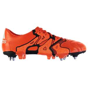 Sélection d'articles de football en promotion - Ex : chaussures adidas X 15.1 SG - orange (du 39 au 46)